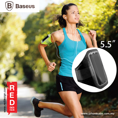 """Picture of Baseus Ultra Thin Sports Armband for Smartphone up to 5.5"""" Note 7 Note FE iPhone 7 Plus - Black Red Design- Red Design Cases, Red Design Covers, iPad Cases and a wide selection of Red Design Accessories in Malaysia, Sabah, Sarawak and Singapore"""
