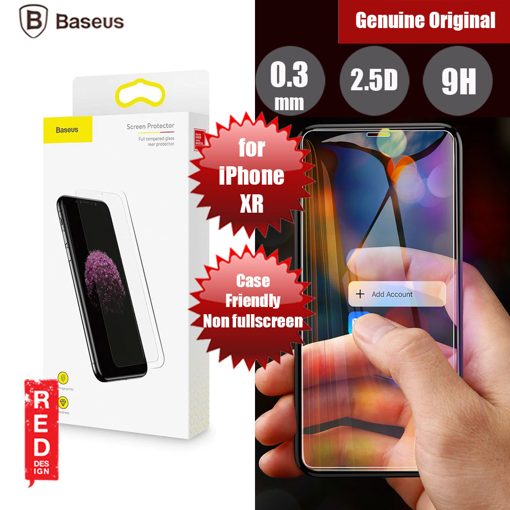 Picture of Baseus Case Friendly Tempered Glass for Apple iPhone XR (0.3mm Clear) Apple iPhone XR- Apple iPhone XR Cases, Apple iPhone XR Covers, iPad Cases and a wide selection of Apple iPhone XR Accessories in Malaysia, Sabah, Sarawak and Singapore