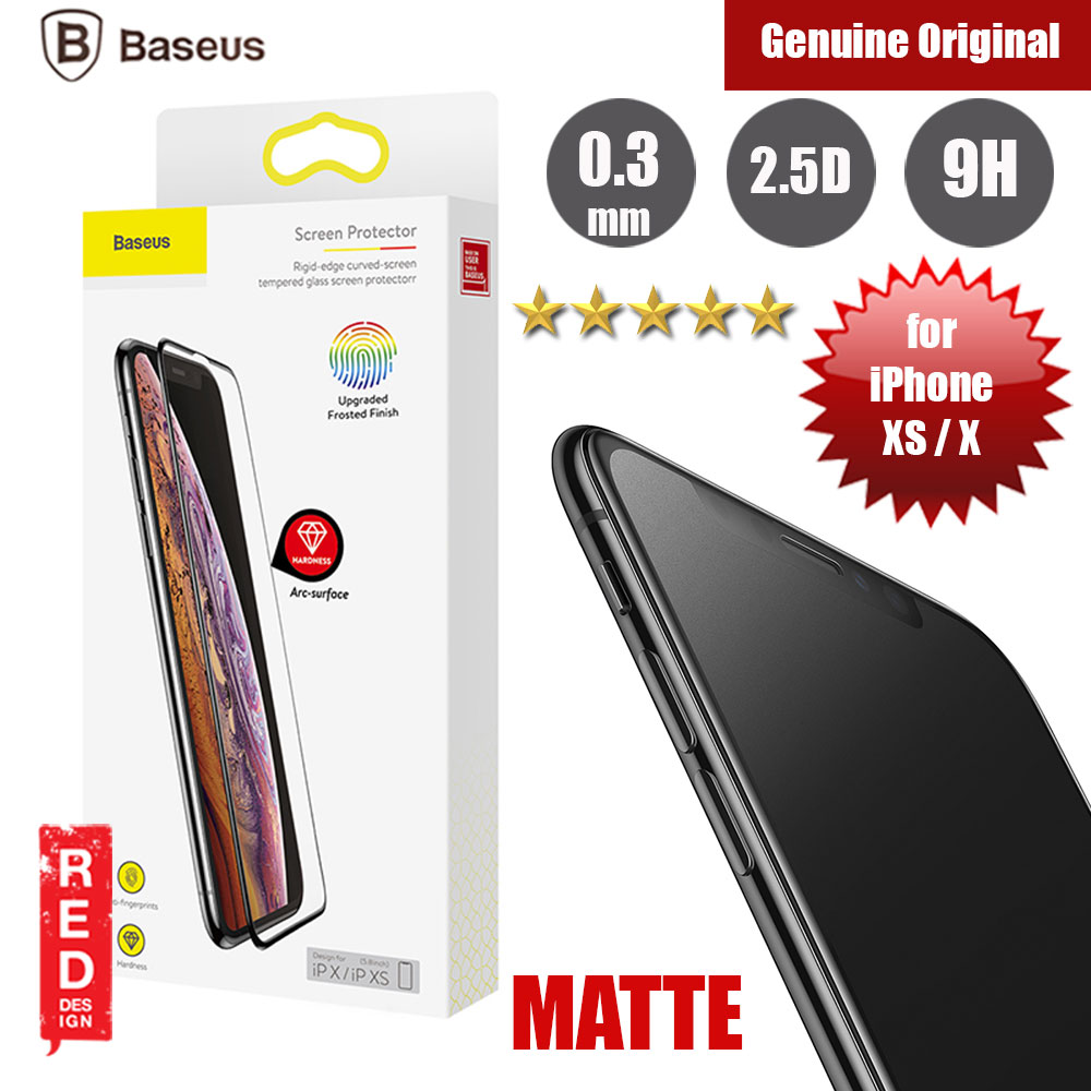 Picture of Baseus Full Coverage Tempered Glass for Apple iPhone XS iPhone X (Matte Surface) Apple iPhone X- Apple iPhone X Cases, Apple iPhone X Covers, iPad Cases and a wide selection of Apple iPhone X Accessories in Malaysia, Sabah, Sarawak and Singapore