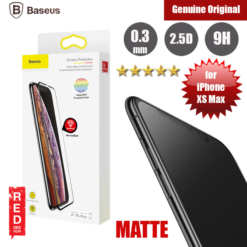 Picture of Baseus Full Coverage Tempered Glass for Apple iPhone XS Max (Matte Surface) Apple iPhone XS Max- Apple iPhone XS Max Cases, Apple iPhone XS Max Covers, iPad Cases and a wide selection of Apple iPhone XS Max Accessories in Malaysia, Sabah, Sarawak and Singapore