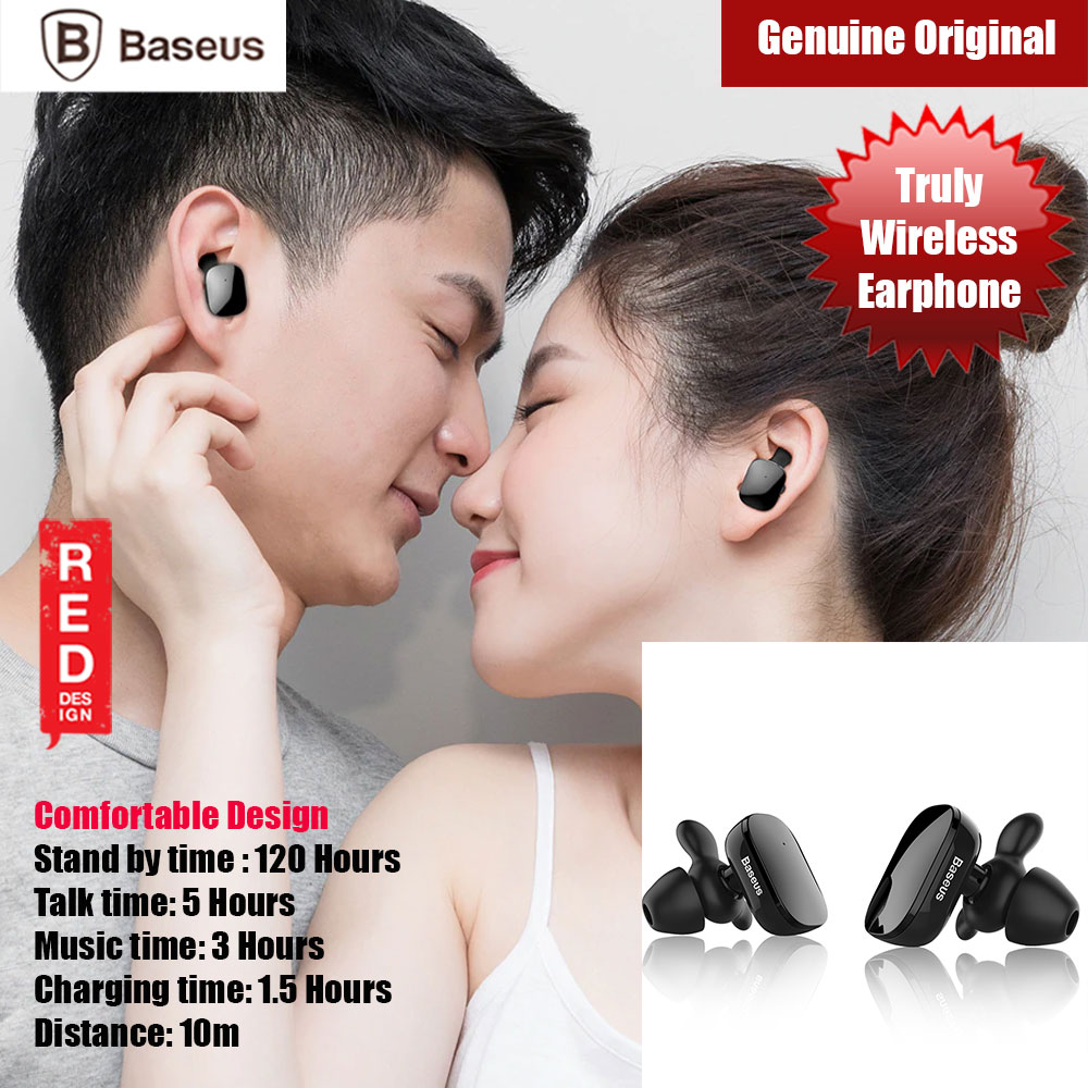 Picture of Baseus TWS True Wireless Bluetooth Earbuds Earphone (Black) Red Design- Red Design Cases, Red Design Covers, iPad Cases and a wide selection of Red Design Accessories in Malaysia, Sabah, Sarawak and Singapore