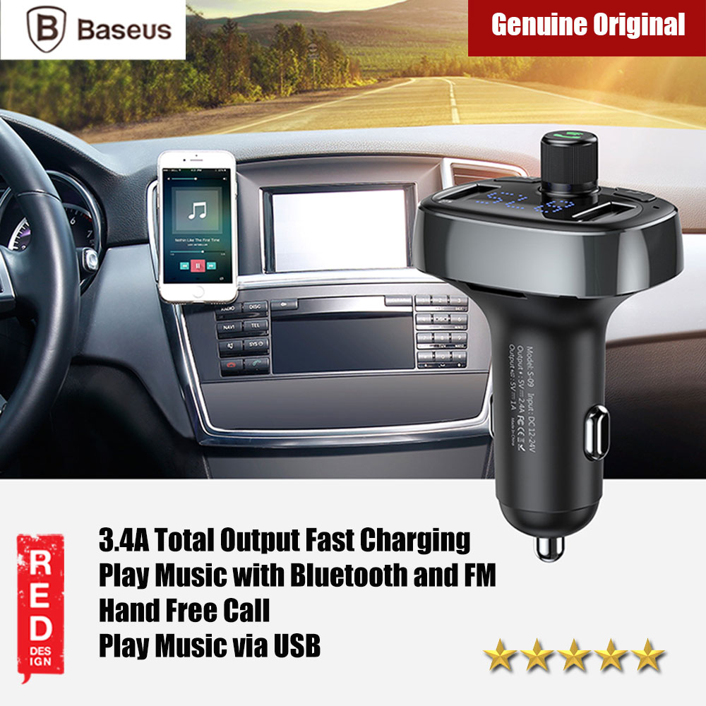Picture of Baseus Bluetooth FM MP3 Player Car Voltage Monitor Car Charger (Tarnish) Red Design- Red Design Cases, Red Design Covers, iPad Cases and a wide selection of Red Design Accessories in Malaysia, Sabah, Sarawak and Singapore