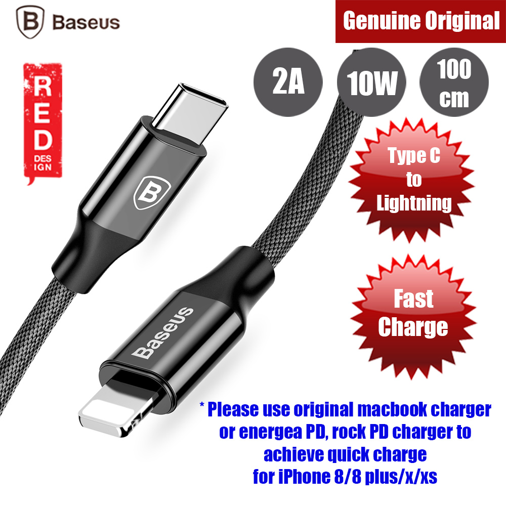 Picture of Baseus Yiven Series Type C to Lightning Quick Charge Cable up to 18W (Black) 100cm Red Design- Red Design Cases, Red Design Covers, iPad Cases and a wide selection of Red Design Accessories in Malaysia, Sabah, Sarawak and Singapore