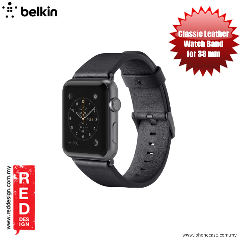 Picture of Belkin Classic Leather Band for Apple Watch (38mm) - Black Apple Watch 38mm- Apple Watch 38mm Cases, Apple Watch 38mm Covers, iPad Cases and a wide selection of Apple Watch 38mm Accessories in Malaysia, Sabah, Sarawak and Singapore