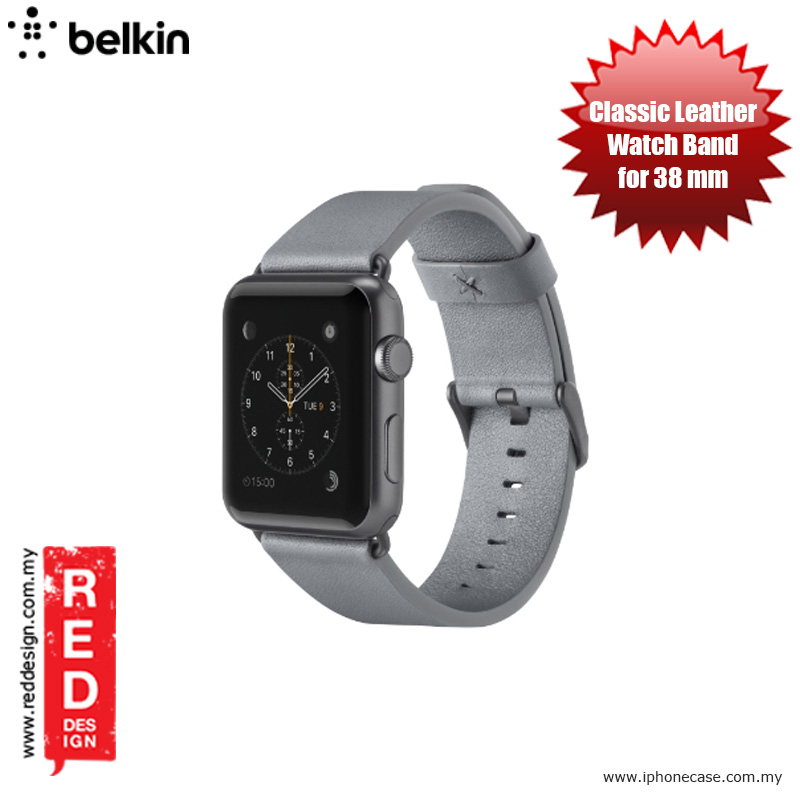 Picture of Belkin Classic Leather Band for Apple Watch (38mm) - Grey Apple Watch 38mm- Apple Watch 38mm Cases, Apple Watch 38mm Covers, iPad Cases and a wide selection of Apple Watch 38mm Accessories in Malaysia, Sabah, Sarawak and Singapore