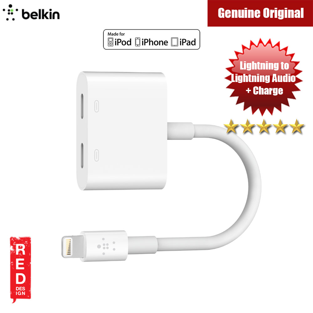 Picture of Belkin MFI Certified Lightning to Lightning audio and charging port RockStar Red Design- Red Design Cases, Red Design Covers, iPad Cases and a wide selection of Red Design Accessories in Malaysia, Sabah, Sarawak and Singapore