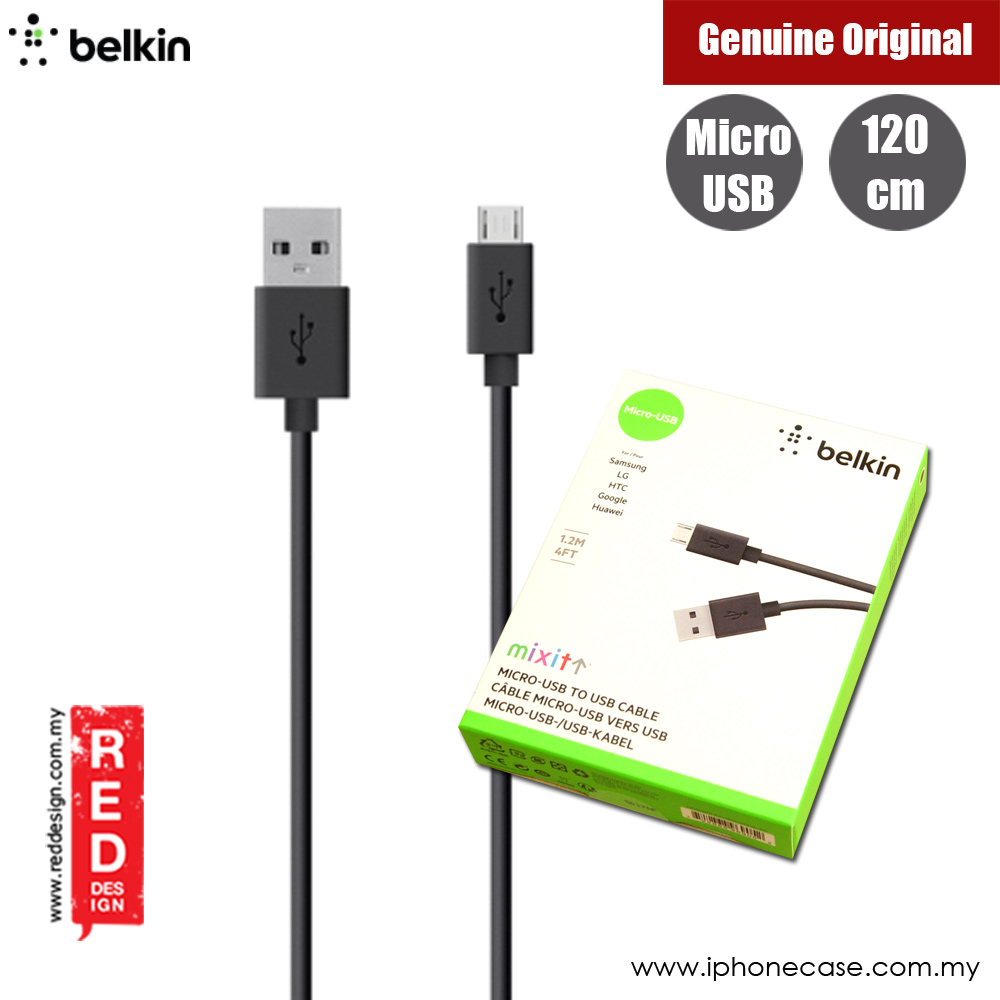 Picture of Belkin Mixit Mirco USB Cable for Samsung LG HTC Google Huawei (Black) Red Design- Red Design Cases, Red Design Covers, iPad Cases and a wide selection of Red Design Accessories in Malaysia, Sabah, Sarawak and Singapore