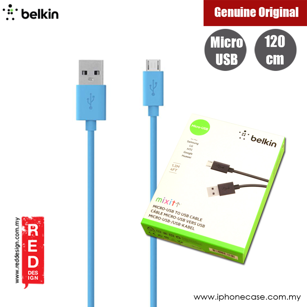 Picture of Belkin Mixit Mirco USB Cable for Samsung LG HTC Google Huawei (Blue) Red Design- Red Design Cases, Red Design Covers, iPad Cases and a wide selection of Red Design Accessories in Malaysia, Sabah, Sarawak and Singapore