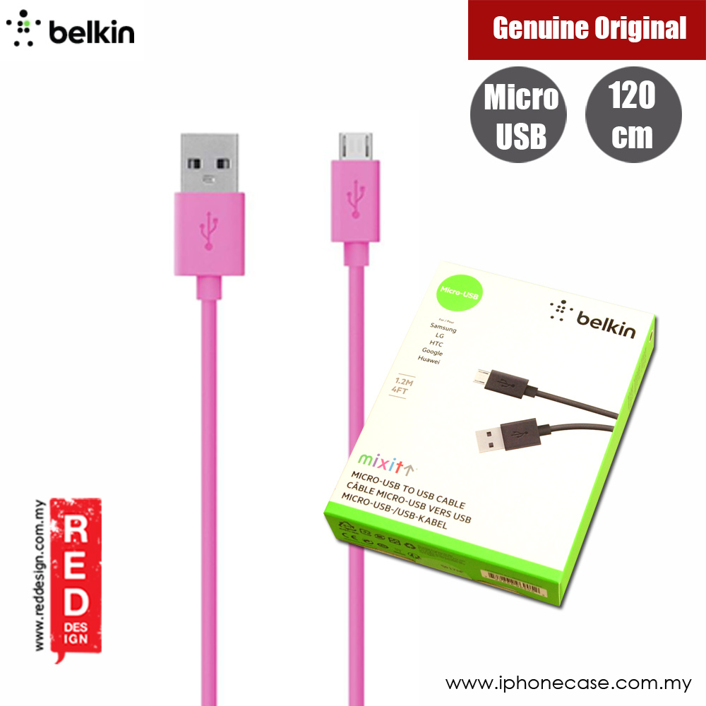 Picture of Belkin Mixit Mirco USB Cable for Samsung LG HTC Google Huawei (Pink) Red Design- Red Design Cases, Red Design Covers, iPad Cases and a wide selection of Red Design Accessories in Malaysia, Sabah, Sarawak and Singapore