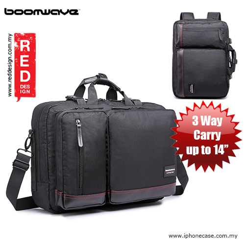 "Picture of Boomwave 3 Way Carry Convertible Series Business 14"" Laptop Bag - CS003 Black Red Design- Red Design Cases, Red Design Covers, iPad Cases and a wide selection of Red Design Accessories in Malaysia, Sabah, Sarawak and Singapore"