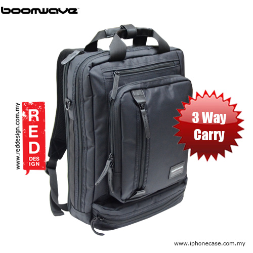 """Picture of Boomwave 3 Way Carry Convertible Series Business 14\"""" Laptop Bag - CS002 Red Design- Red Design Cases, Red Design Covers, iPad Cases and a wide selection of Red Design Accessories in Malaysia, Sabah, Sarawak and Singapore"""