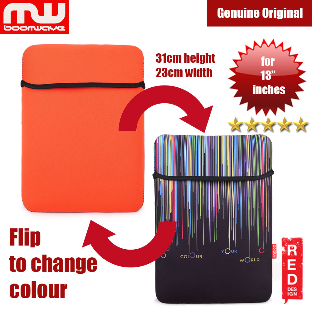 Picture of Boomwave Colour Series Laptop Notebook Macbook Sleeve Design up to 13 inches Laptop (Orange) Red Design- Red Design Cases, Red Design Covers, iPad Cases and a wide selection of Red Design Accessories in Malaysia, Sabah, Sarawak and Singapore