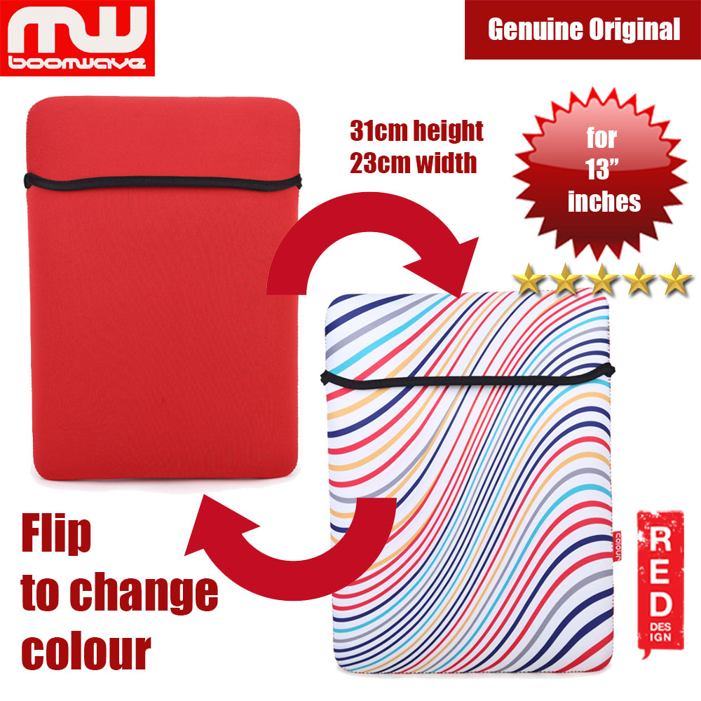 Picture of Boomwave Colour Series Laptop Notebook Macbook Sleeve Design up to 13 inches Laptop (Red) Red Design- Red Design Cases, Red Design Covers, iPad Cases and a wide selection of Red Design Accessories in Malaysia, Sabah, Sarawak and Singapore