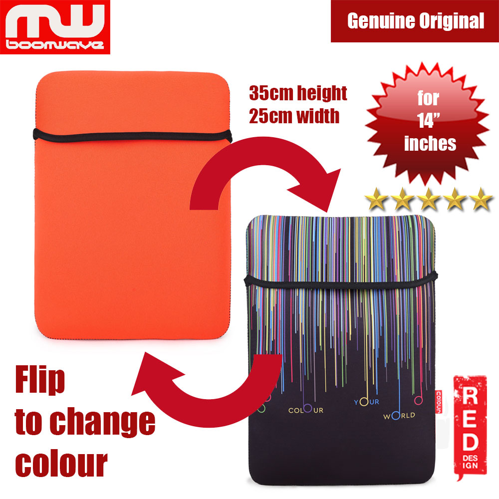 Picture of Boomwave Colour Series Laptop Notebook Macbook Sleeve Design up to 14 inches Laptop (Orange) Red Design- Red Design Cases, Red Design Covers, iPad Cases and a wide selection of Red Design Accessories in Malaysia, Sabah, Sarawak and Singapore