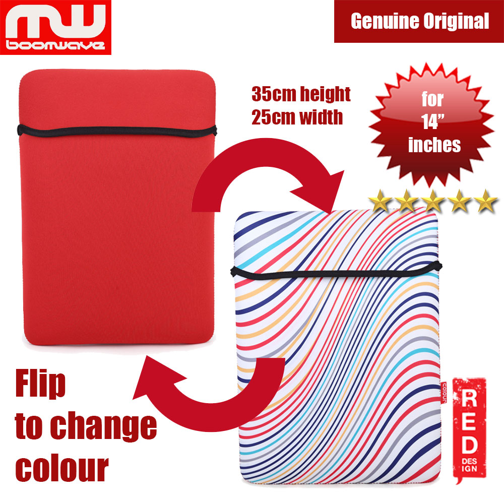 Picture of Boomwave Colour Series Laptop Notebook Macbook Sleeve Design up to 14 inches Laptop (Red) Red Design- Red Design Cases, Red Design Covers, iPad Cases and a wide selection of Red Design Accessories in Malaysia, Sabah, Sarawak and Singapore