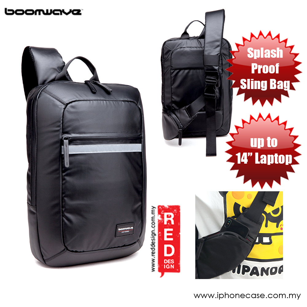 Picture of Boomwave Light Series Splashproof Sling Bag up to 14 inches Laptop Bag Red Design- Red Design Cases, Red Design Covers, iPad Cases and a wide selection of Red Design Accessories in Malaysia, Sabah, Sarawak and Singapore