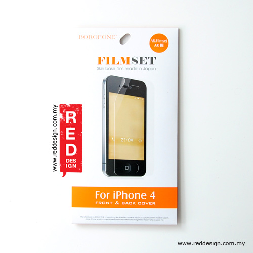 Picture of Apple iPhone 4S Screen Protector | BOROFONE Clear Screen Protector for iPhone 4 4s - Front and Back