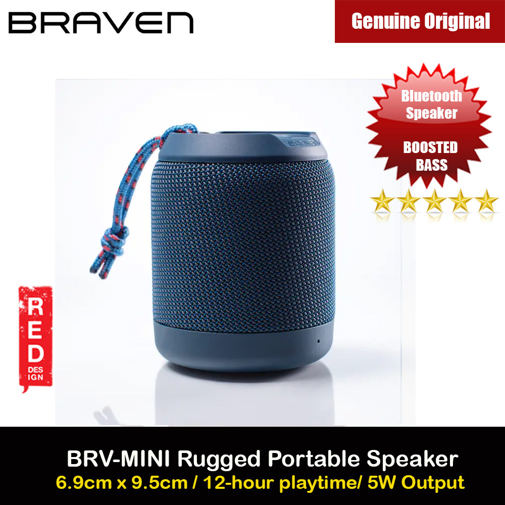 Picture of Braven Speaker BRV Mini Portable Bluetooth Speaker 5W Boosted Bass Loud Speaker Waterproof IPX7 Speaker with Microphone Handfree Call Long Hours Play Speaker (Blue) Red Design- Red Design Cases, Red Design Covers, iPad Cases and a wide selection of Red Design Accessories in Malaysia, Sabah, Sarawak and Singapore