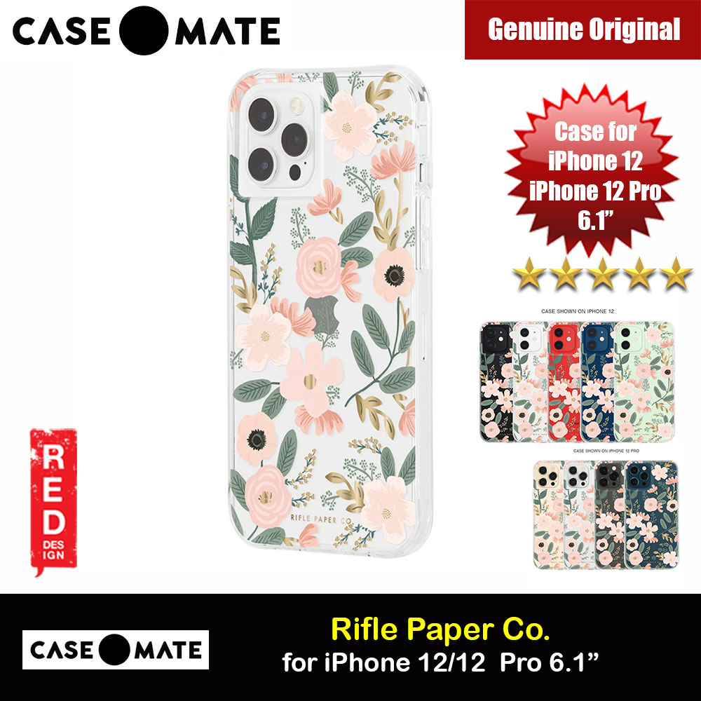 Picture of Case Mate Rifle Paper Co. Series Drop Protection Case for iPhone 12 iPhone 12 Pro 6.1 (Wild Flowers) Apple iPhone 12 6.1- Apple iPhone 12 6.1 Cases, Apple iPhone 12 6.1 Covers, iPad Cases and a wide selection of Apple iPhone 12 6.1 Accessories in Malaysia, Sabah, Sarawak and Singapore