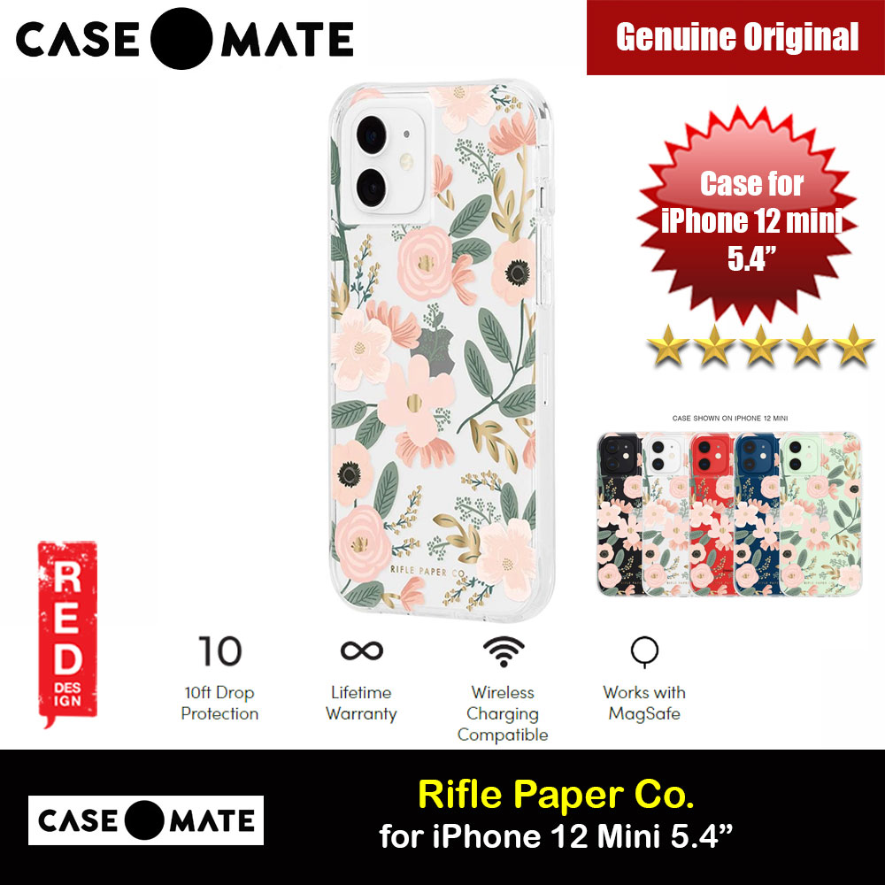 Picture of Case Mate Rifle Paper Co. Series Drop Protection Case for iPhone 12 Mini 5.4 (Wild Flowers) Apple iPhone 12 mini 5.4- Apple iPhone 12 mini 5.4 Cases, Apple iPhone 12 mini 5.4 Covers, iPad Cases and a wide selection of Apple iPhone 12 mini 5.4 Accessories in Malaysia, Sabah, Sarawak and Singapore