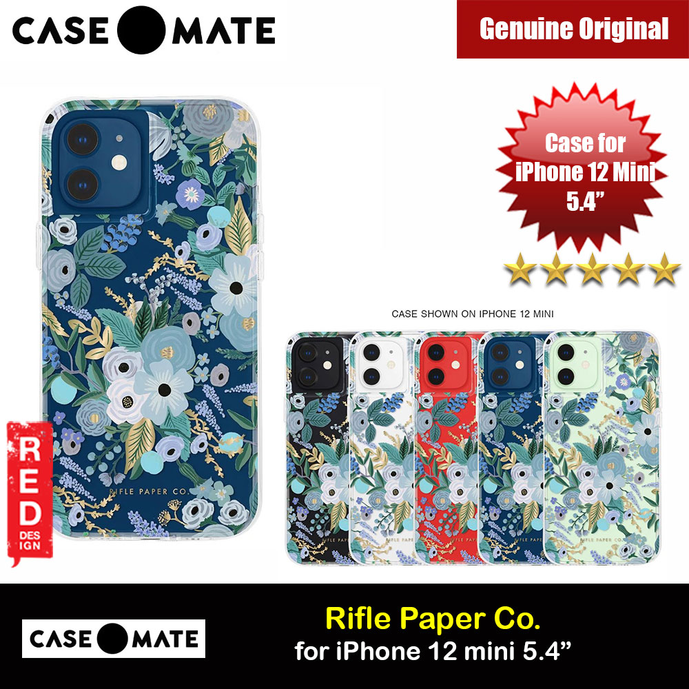 Picture of Case Mate Rifle Paper Co. Series Drop Protection Case for iPhone 12 Mini 5.4 (Garden Party Blue) Apple iPhone 12 mini 5.4- Apple iPhone 12 mini 5.4 Cases, Apple iPhone 12 mini 5.4 Covers, iPad Cases and a wide selection of Apple iPhone 12 mini 5.4 Accessories in Malaysia, Sabah, Sarawak and Singapore