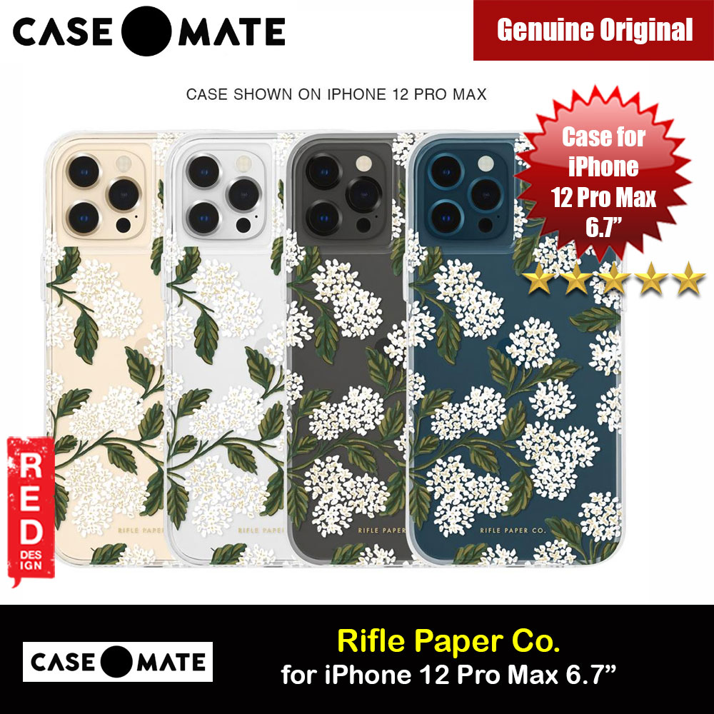 Picture of Case Mate Rifle Paper Co. Series Drop Protection Case for iPhone 12 Pro Max 6.7 (Clear Hydrangea White) Apple iPhone 12 Pro Max 6.7- Apple iPhone 12 Pro Max 6.7 Cases, Apple iPhone 12 Pro Max 6.7 Covers, iPad Cases and a wide selection of Apple iPhone 12 Pro Max 6.7 Accessories in Malaysia, Sabah, Sarawak and Singapore