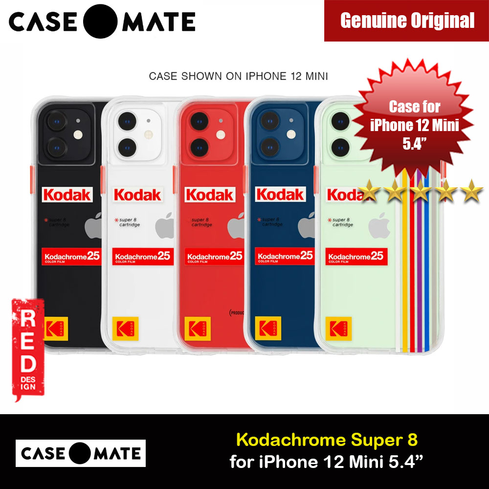 Picture of Case Mate Kodak Series Drop Protection Case for iPhone 12 Mini 5.4 (Kodachrome Super 8 with Micropel) Apple iPhone 12 mini 5.4- Apple iPhone 12 mini 5.4 Cases, Apple iPhone 12 mini 5.4 Covers, iPad Cases and a wide selection of Apple iPhone 12 mini 5.4 Accessories in Malaysia, Sabah, Sarawak and Singapore