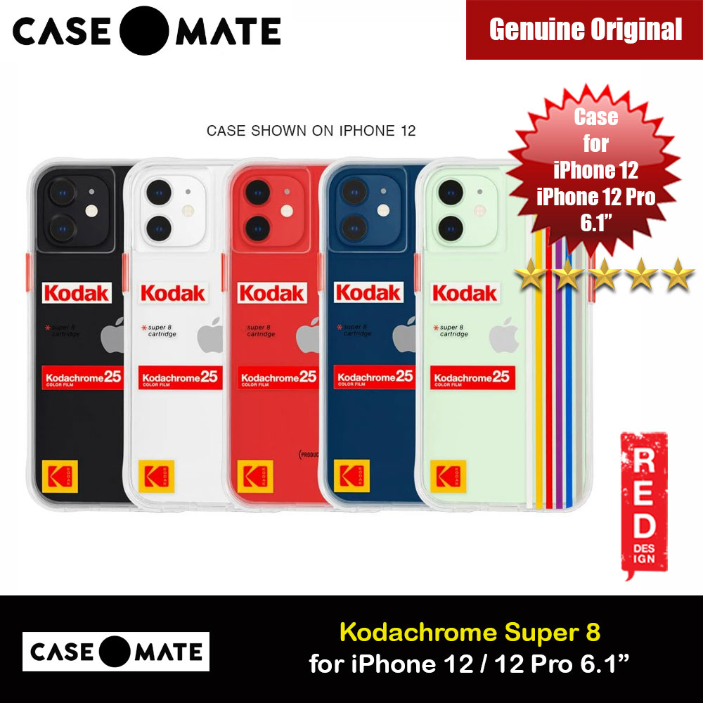 Picture of Case Mate Kodak Series Drop Protection Case for iPhone 12 iPhone 12 Pro 6.1 (White Kodachrome Super 8 with Micropel) Apple iPhone 12 6.1- Apple iPhone 12 6.1 Cases, Apple iPhone 12 6.1 Covers, iPad Cases and a wide selection of Apple iPhone 12 6.1 Accessories in Malaysia, Sabah, Sarawak and Singapore