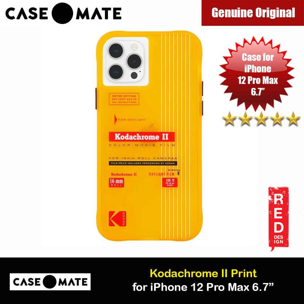 Picture of Case Mate Kodak Series Drop Protection Case for iPhone 12 Pro Max 6.7 (Vintage Yellow with Micropel) Apple iPhone 12 Pro Max 6.7- Apple iPhone 12 Pro Max 6.7 Cases, Apple iPhone 12 Pro Max 6.7 Covers, iPad Cases and a wide selection of Apple iPhone 12 Pro Max 6.7 Accessories in Malaysia, Sabah, Sarawak and Singapore