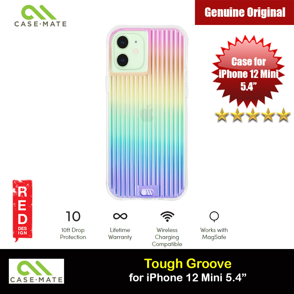 Picture of Case Mate Tough Groove Iridescent Series Drop Protection Case for iPhone 12 Mini 5.4 (Iridescent Linear with Micropel) Apple iPhone 12 mini 5.4- Apple iPhone 12 mini 5.4 Cases, Apple iPhone 12 mini 5.4 Covers, iPad Cases and a wide selection of Apple iPhone 12 mini 5.4 Accessories in Malaysia, Sabah, Sarawak and Singapore