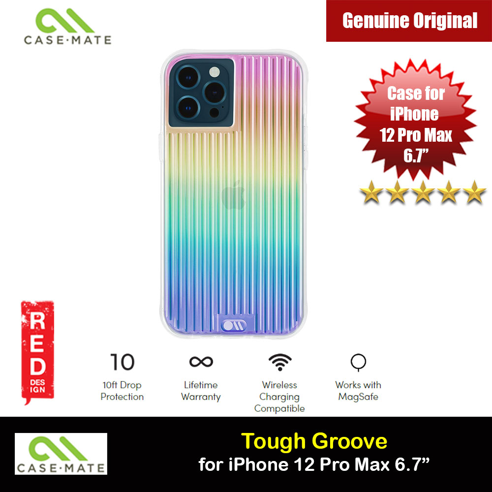 Picture of Case Mate Tough Groove Iridescent Series Drop Protection Case for iPhone 12 Pro Max 6.7 (Iridescent Linear with Micropel) Apple iPhone 12 Pro Max 6.7- Apple iPhone 12 Pro Max 6.7 Cases, Apple iPhone 12 Pro Max 6.7 Covers, iPad Cases and a wide selection of Apple iPhone 12 Pro Max 6.7 Accessories in Malaysia, Sabah, Sarawak and Singapore