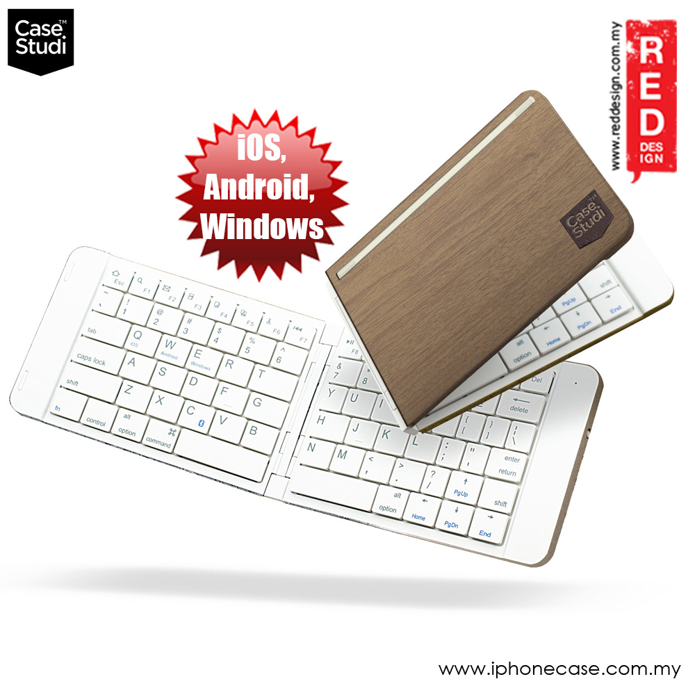 Picture of Apple iPad Pro 9.7  | Case Studi FoldBoard Bluetooth Foldable Keyboard for IOS Andriod Window (Wood)