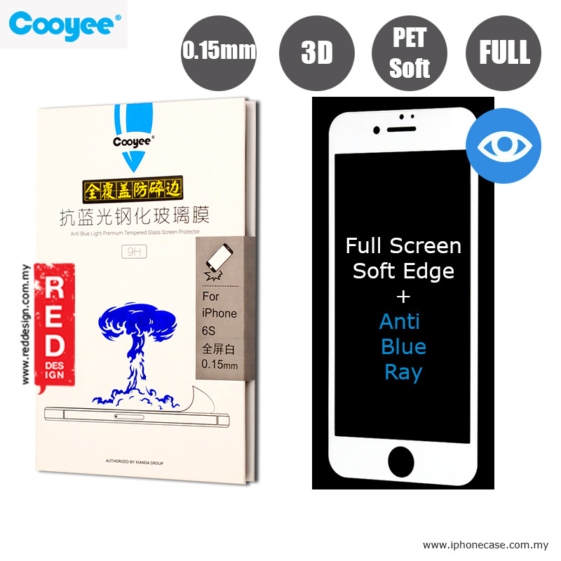 Picture of Cooyee Series Ultra Thin Full Screen Tempered Glass fooft 3D Curve 0.15 mm Anti Blue Ray - Whiter Apple iPhone 6S 4.7  PET S Apple iPhone 6 4.7- Apple iPhone 6 4.7 Cases, Apple iPhone 6 4.7 Covers, iPad Cases and a wide selection of Apple iPhone 6 4.7 Accessories in Malaysia, Sabah, Sarawak and Singapore