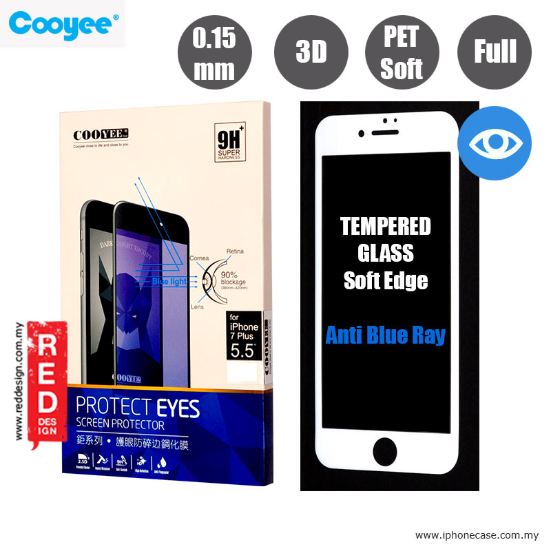 Picture of Cooyee Series Ultra Thin Full Screen Tempered Glass for Apple iPhone 7 Plus iPhone 8 Plus 5.5 PET Soft 3D Curve 0.15 mm Anti Blue Ray- White Apple iPhone 8 Plus- Apple iPhone 8 Plus Cases, Apple iPhone 8 Plus Covers, iPad Cases and a wide selection of Apple iPhone 8 Plus Accessories in Malaysia, Sabah, Sarawak and Singapore