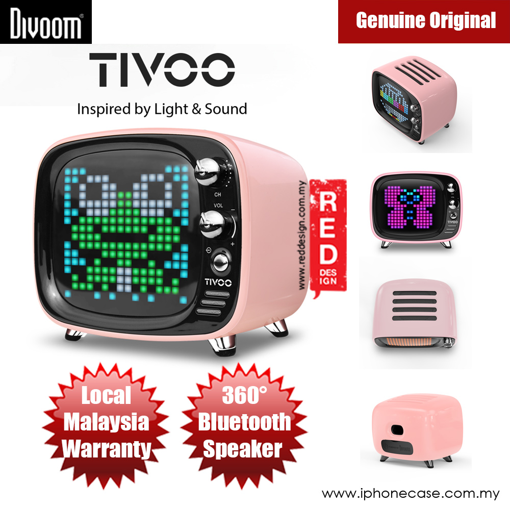 Picture of Divoom TIVOO Pixel Art Multifunction Alarm LED Bluetooth Speaker (Pink) Red Design- Red Design Cases, Red Design Covers, iPad Cases and a wide selection of Red Design Accessories in Malaysia, Sabah, Sarawak and Singapore