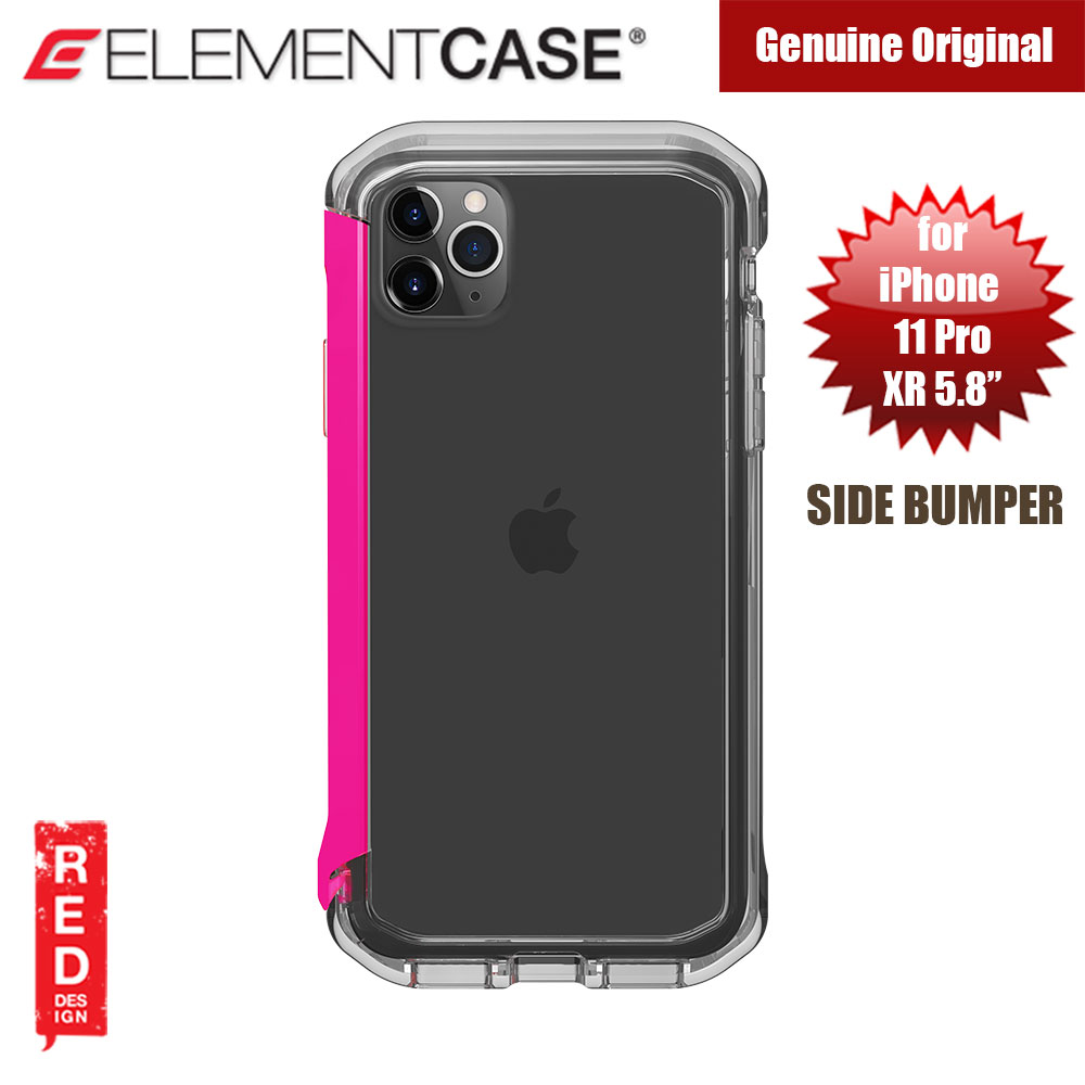 Picture of Element Case Rail Series Drop Protection Bumper for iPhone 11 Pro iPhone XS iPhone X 5.8 (Flamingo Pink Clear) Apple iPhone XS- Apple iPhone XS Cases, Apple iPhone XS Covers, iPad Cases and a wide selection of Apple iPhone XS Accessories in Malaysia, Sabah, Sarawak and Singapore