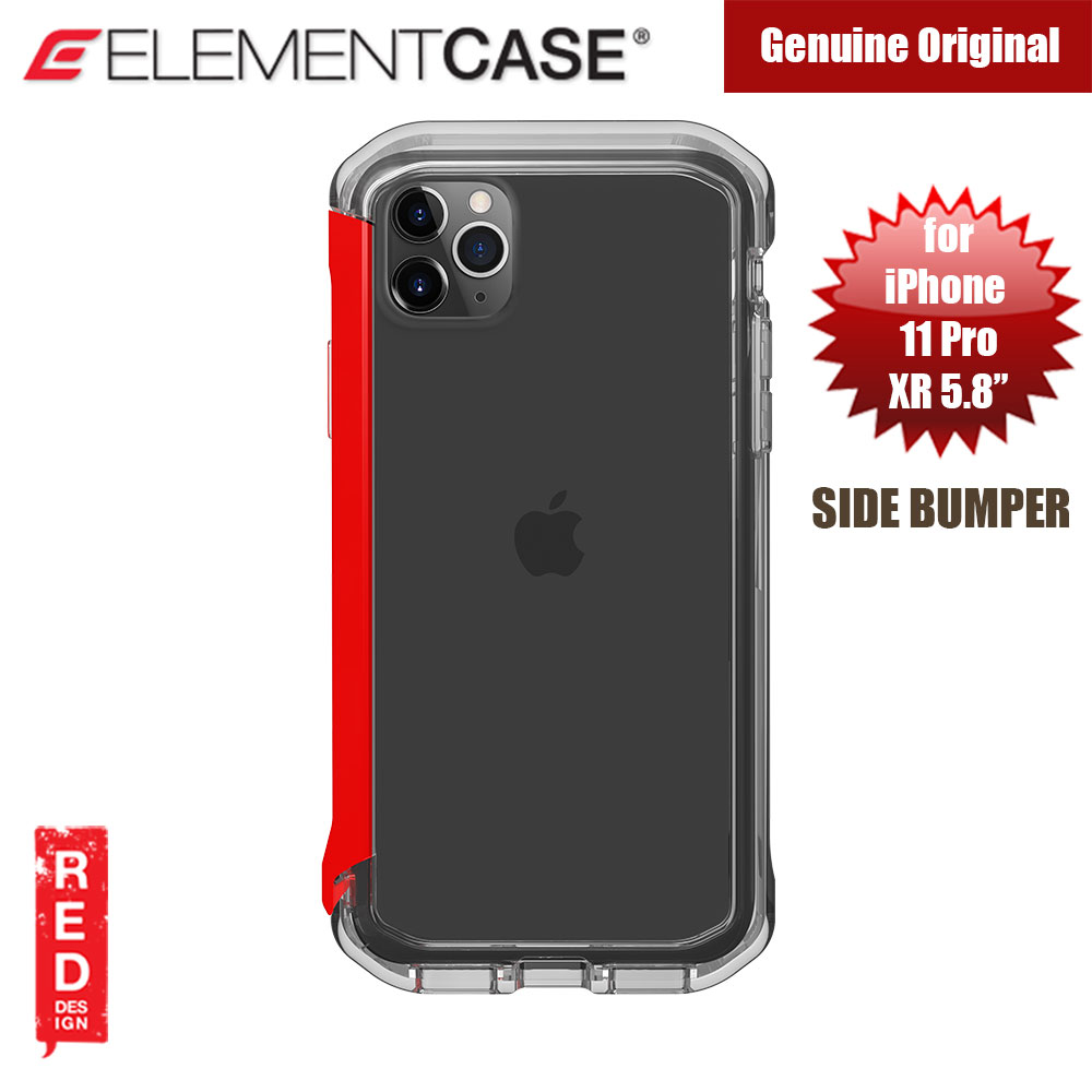 Picture of Element Case Rail Series Drop Protection Bumper for iPhone 11 Pro iPhone XS iPhone X 5.8 (Red Clear) Apple iPhone XS- Apple iPhone XS Cases, Apple iPhone XS Covers, iPad Cases and a wide selection of Apple iPhone XS Accessories in Malaysia, Sabah, Sarawak and Singapore