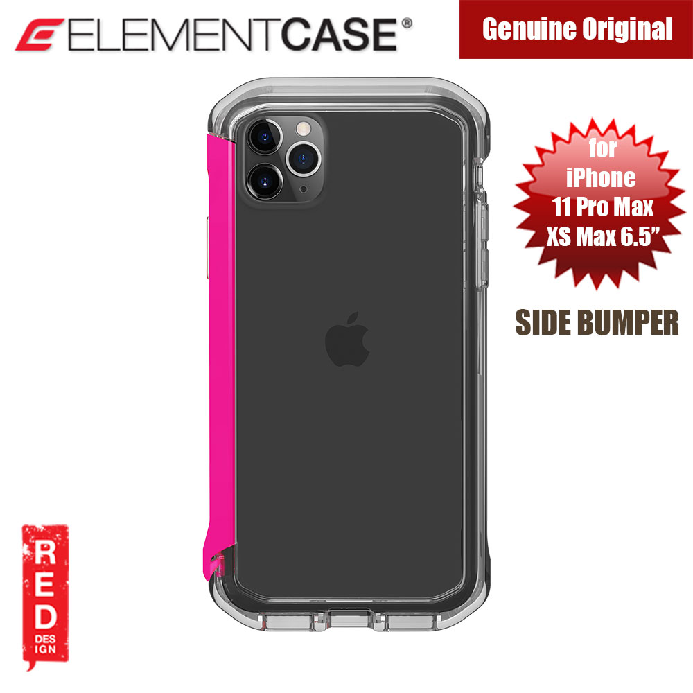 Picture of Element Case Rail Series Drop Protection Bumper for iPhone 11 Pro Max 6.5 (Flamingo Pink Clear) Apple iPhone XS Max- Apple iPhone XS Max Cases, Apple iPhone XS Max Covers, iPad Cases and a wide selection of Apple iPhone XS Max Accessories in Malaysia, Sabah, Sarawak and Singapore