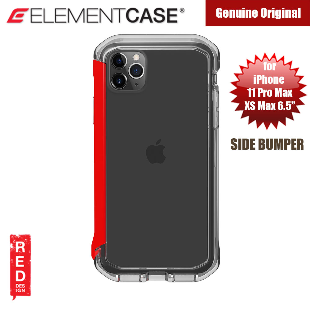 Picture of Element Case Rail Series Drop Protection Bumper for iPhone 11 Pro Max 6.5 (Red Clear) Apple iPhone XS Max- Apple iPhone XS Max Cases, Apple iPhone XS Max Covers, iPad Cases and a wide selection of Apple iPhone XS Max Accessories in Malaysia, Sabah, Sarawak and Singapore