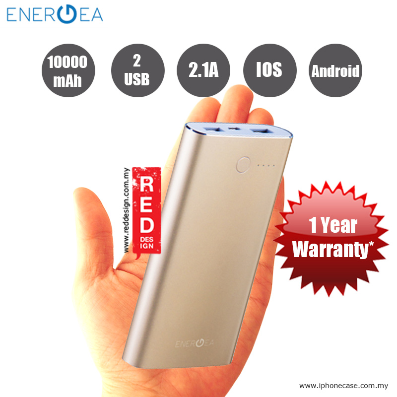 Picture of Energea ALUPAC 10000 Slim Aluminum Li-Polymer Power Pack - Gold Red Design- Red Design Cases, Red Design Covers, iPad Cases and a wide selection of Red Design Accessories in Malaysia, Sabah, Sarawak and Singapore