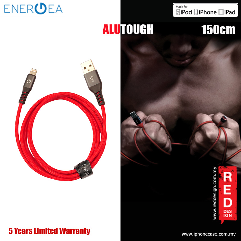 Picture of Energea ALUTOUGH MFI Charge and Sync Lightning Cable 2.4A Speed Charging 150cm - Red