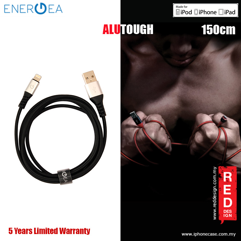 Picture of Energea ALUTOUGH MFI Charge and Sync Lightning Cable 2.4A Speed Charging 150cm - Silver Red Design- Red Design Cases, Red Design Covers, iPad Cases and a wide selection of Red Design Accessories in Malaysia, Sabah, Sarawak and Singapore