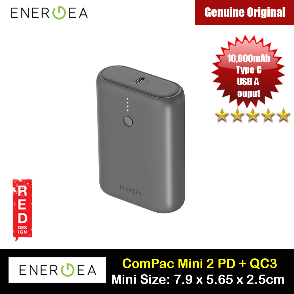 Picture of Energea Compac Mini 2  Power Bank 10000mAh support QC 3.0 PD 3.0 VOOC PPS SCP QC3 Huawei Samsung Oppo iPhone Red Design- Red Design Cases, Red Design Covers, iPad Cases and a wide selection of Red Design Accessories in Malaysia, Sabah, Sarawak and Singapore