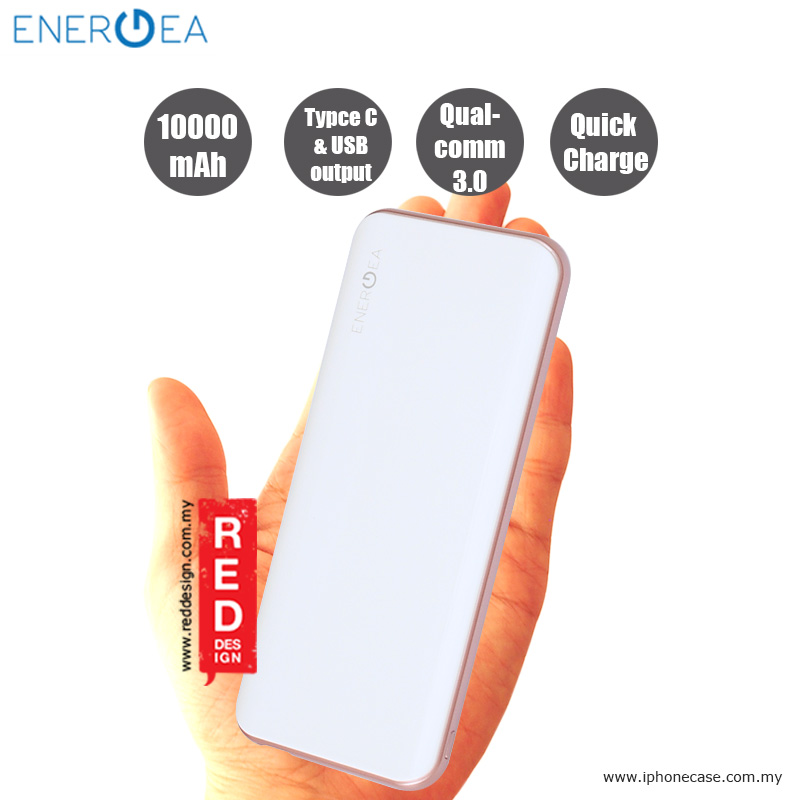 Picture of Energea Enerpac 10000C Power Bank with USB and USB-C Quick Charge 3.0 - White