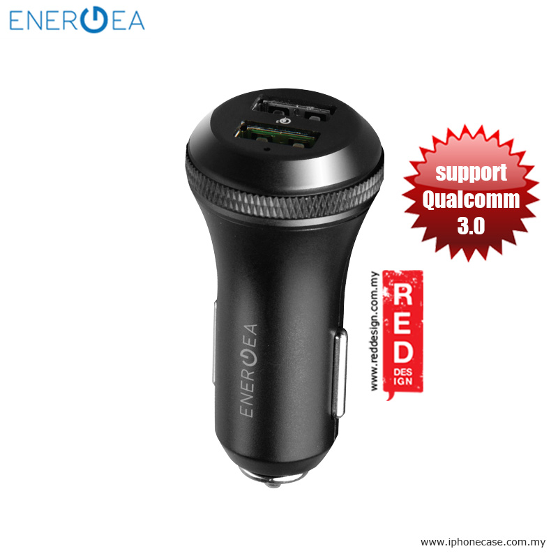 Picture of Energea FAST DRIVE Duo USB Premium Aluminum Quick Charge 3.0 Car Charger Red Design- Red Design Cases, Red Design Covers, iPad Cases and a wide selection of Red Design Accessories in Malaysia, Sabah, Sarawak and Singapore