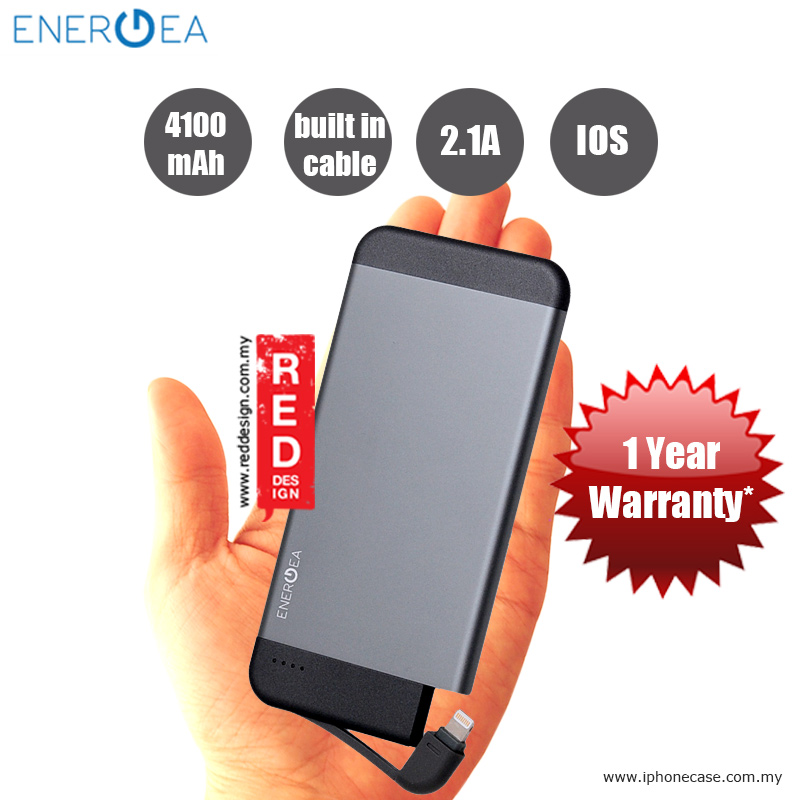 Picture of Energea INTEGRA 4100i Ultra Slim Aluminum MFi Certified Power Pack - Gunmetal Red Design- Red Design Cases, Red Design Covers, iPad Cases and a wide selection of Red Design Accessories in Malaysia, Sabah, Sarawak and Singapore