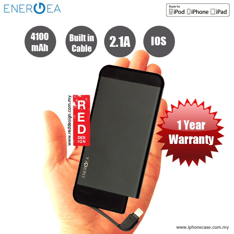 Picture of Energea INTEGRA 4100i Ultra Slim Aluminum MFi Certified Power Pack - Black Red Design- Red Design Cases, Red Design Covers, iPad Cases and a wide selection of Red Design Accessories in Malaysia, Sabah, Sarawak and Singapore