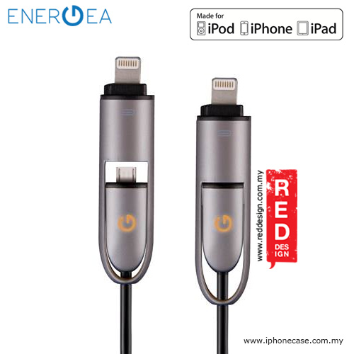 Picture of Energea LUMINA Cable Micro USB and Lightning Cable Red Design- Red Design Cases, Red Design Covers, iPad Cases and a wide selection of Red Design Accessories in Malaysia, Sabah, Sarawak and Singapore