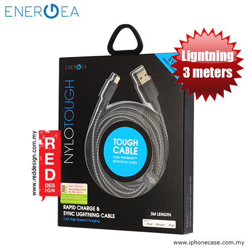 Picture of Energea NYLOTOUGH MFI Rapid Charge and Sync Lightning Braid Cable 3M - Black