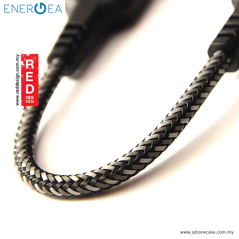 Picture of Energea NYLOTOUGH TYPE-C 2.0 3A Rapid Charge and Sync Braid Cable 16cm - Black